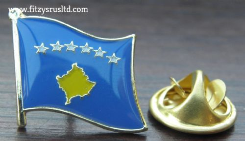 Kosovo Country Flag Lapel Hat Cap Tie Pin Badge / Brooch Kosov Kosova